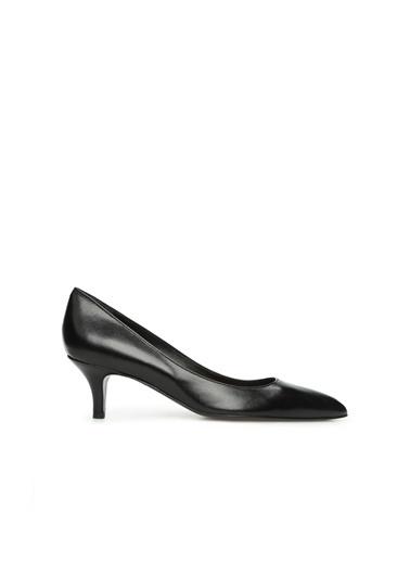 Divarese Kadın 5024755 Deri Topuklu Ayakkabı Siyah